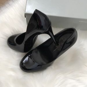 Women's Black Patent Leather Heels